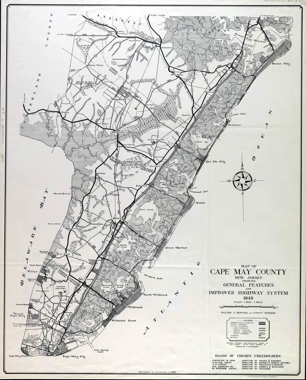Maps Cape May County NJ 1948