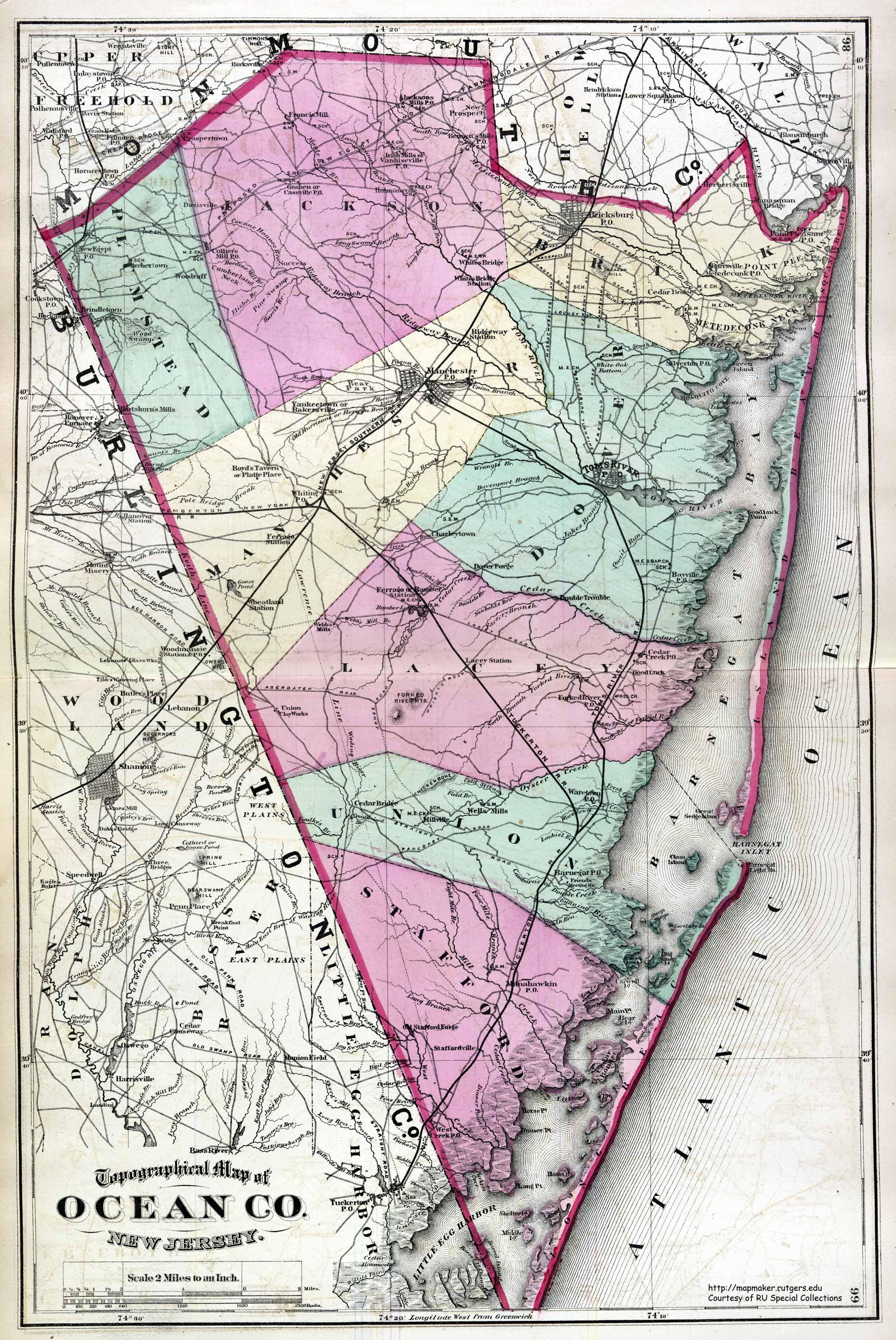 Maps - Ocean County NJ, 1872ocean county