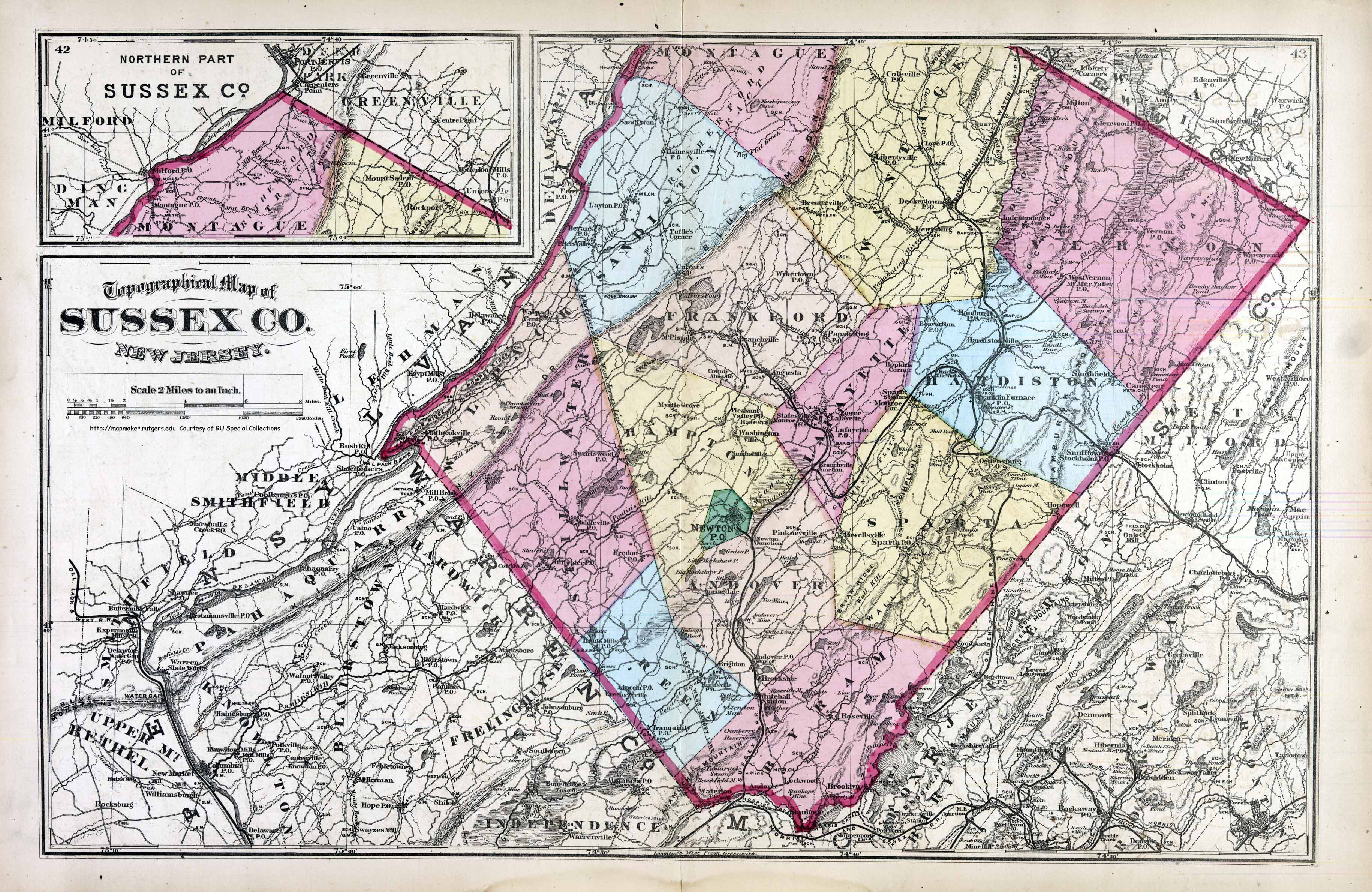 map of new jersey counties with Sussexco1872 on Lam Michigan Zip moreover New Jersey At 350 A Short History Of Colonial New Jersey Land Records further MAPS likewise County Clare 87157007 237774421 further Kansas Map.