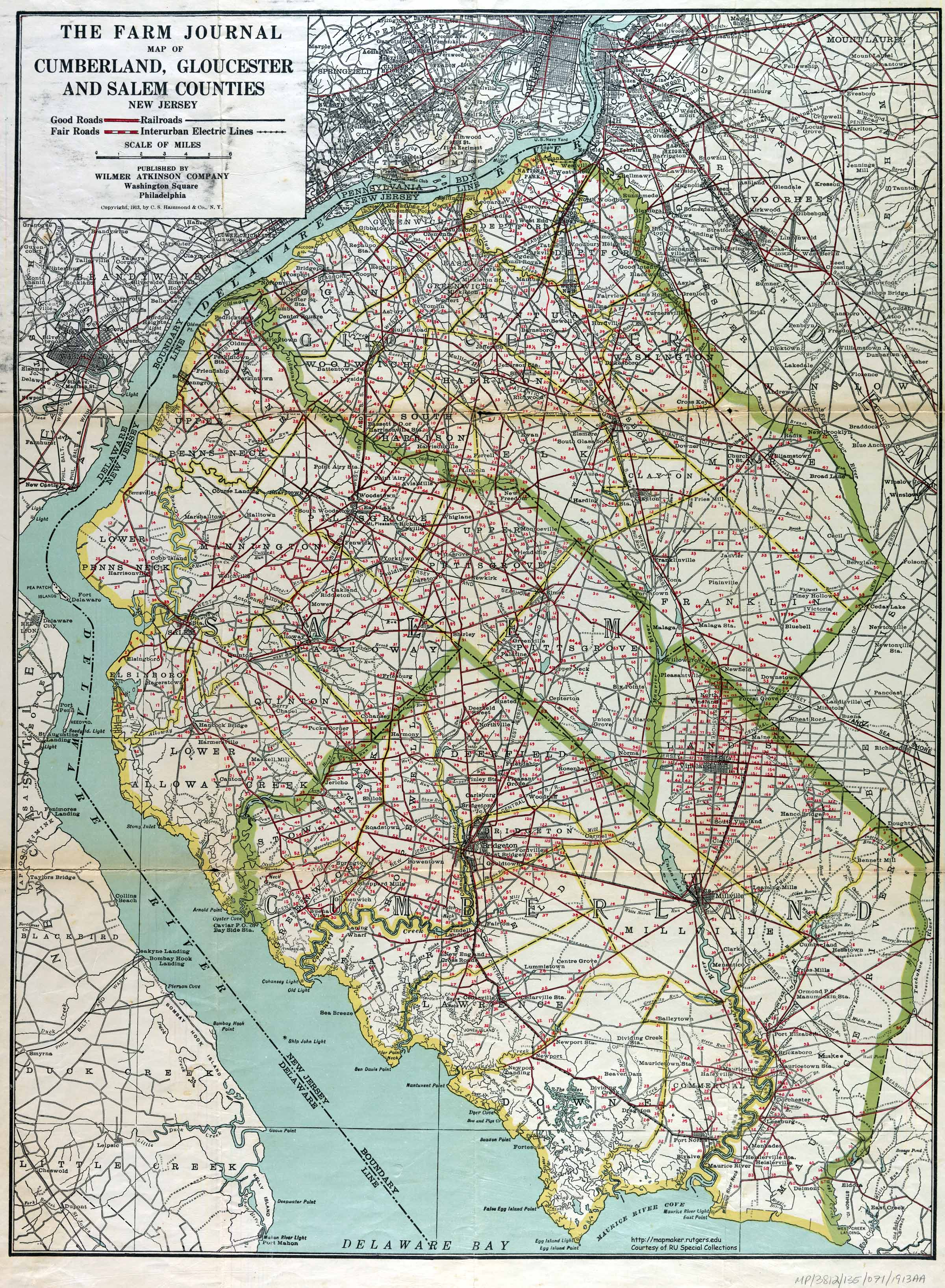 Maps Salem Gloucester and Cumberland Counties 1913