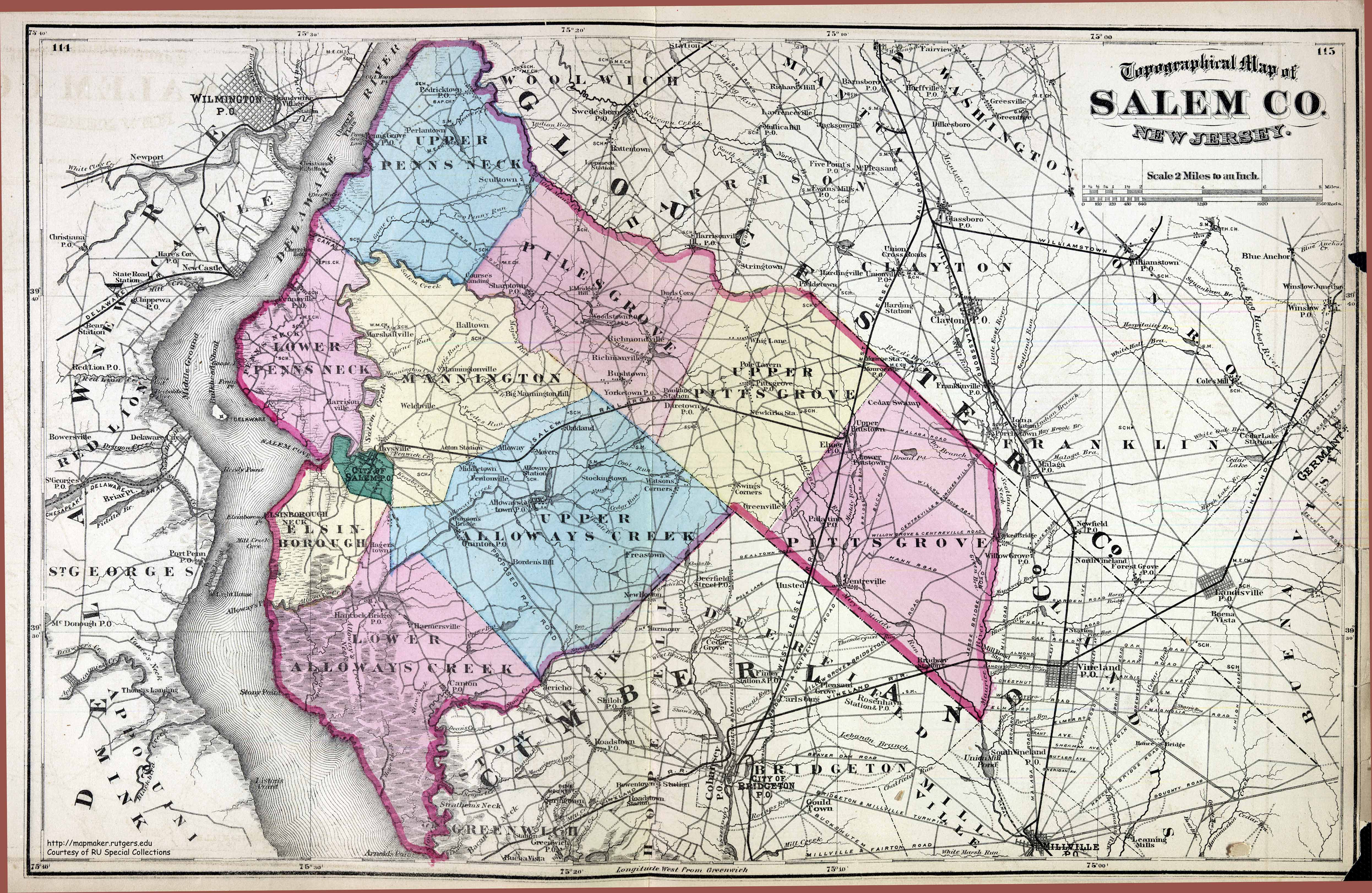 Maps  Salem County 1872
