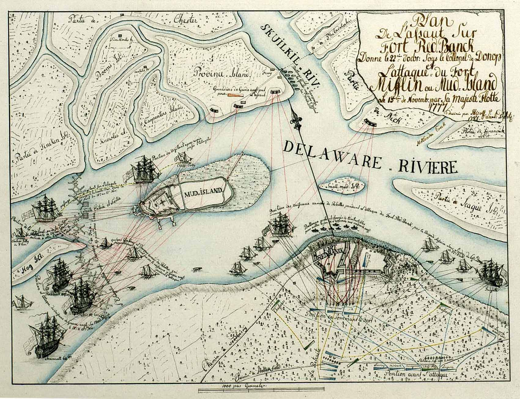 Revolutionary War Era Maps - Map of American fortifications on the ...